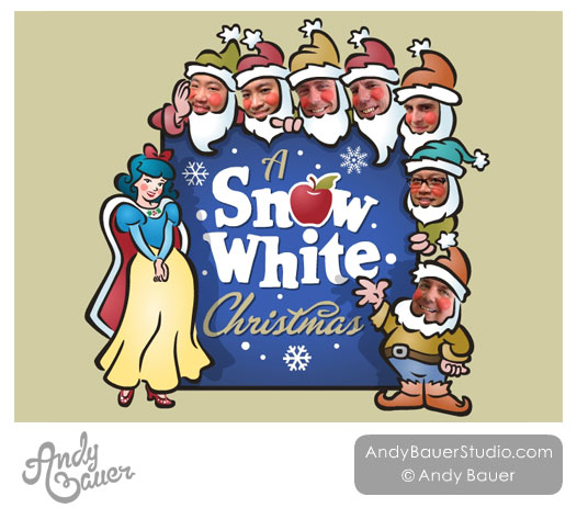Snow White Christmas Poster Design Andy Bauer