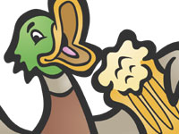 drunk drinking duck beer animals clip art licensing andy bauer