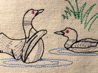 Embroidered Loon Design by Andy Bauer