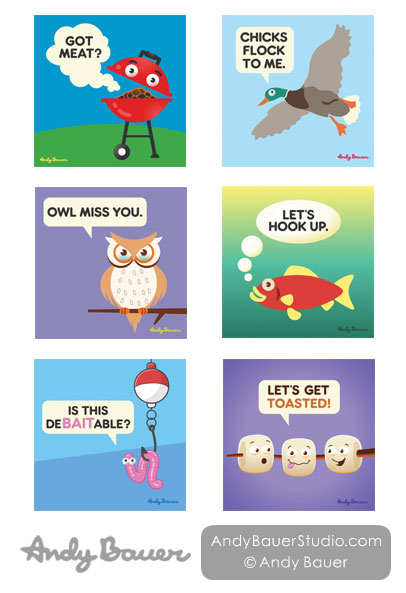 Humor Line Greeting Cards by Andy Bauer