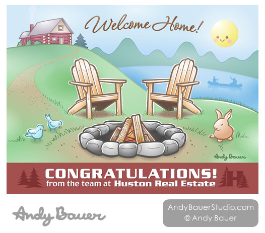 Real Estate Congratulations Card by Andy Bauer