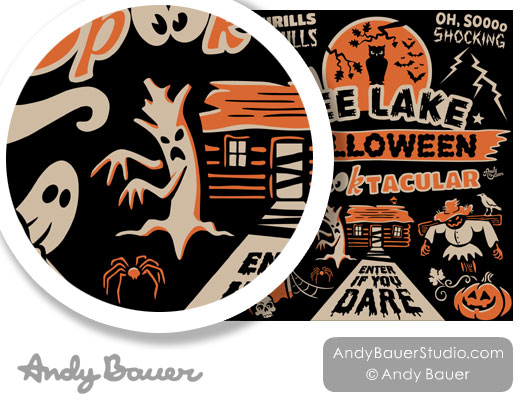 Retro Halloween Spooktacular Design by Andy Bauer