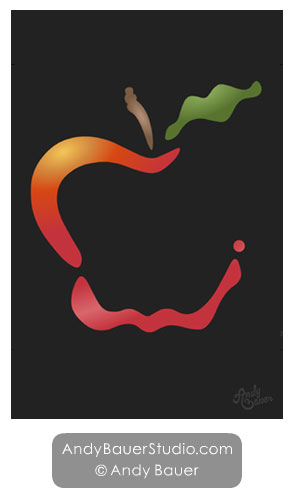 Apple Art by Andy Bauer