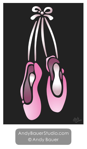 Ballet Slippers by Andy Bauer
