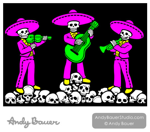 Skeleton Mariachi Band Day of the Dead Terror at Tee Lake