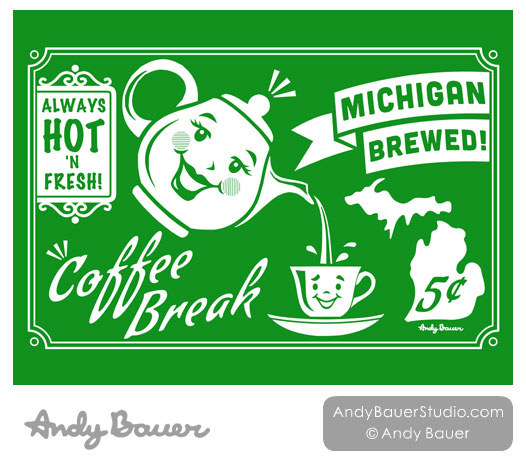 Retro Michigan Designs by Andy Bauer