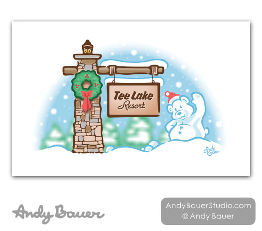 Tee Lake Resort Christmas by Andy Bauer