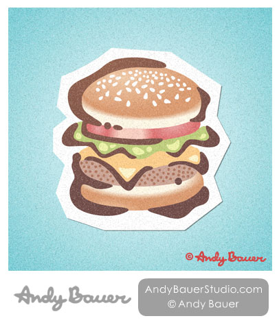 Cheeseburger Print Andy Bauer
