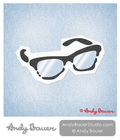 Glasses Print Andy Bauer