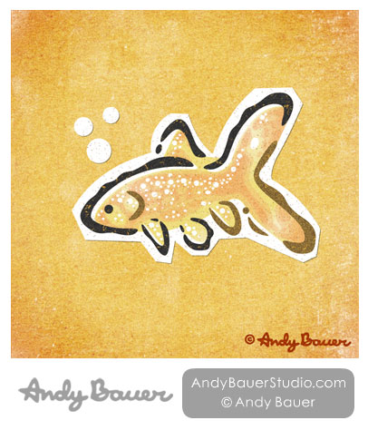 Goldfish Print Andy Bauer