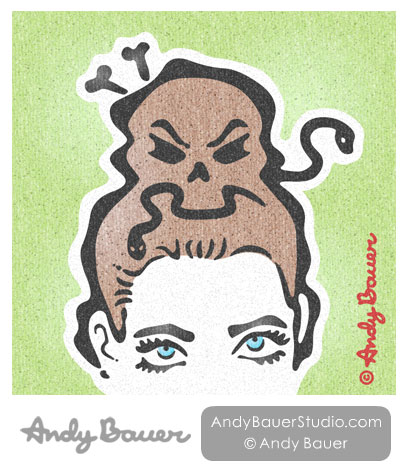 Nightmare Hair Print Andy Bauer