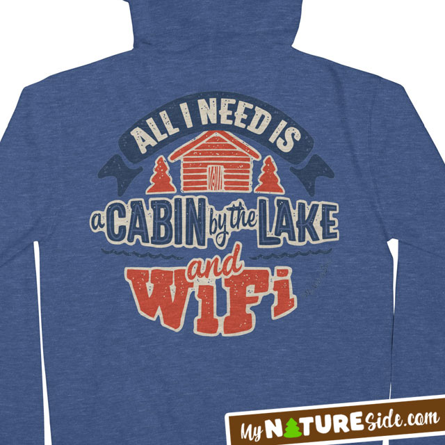 Lake Life Cabin Living Retro Vintage Apparel TShirt