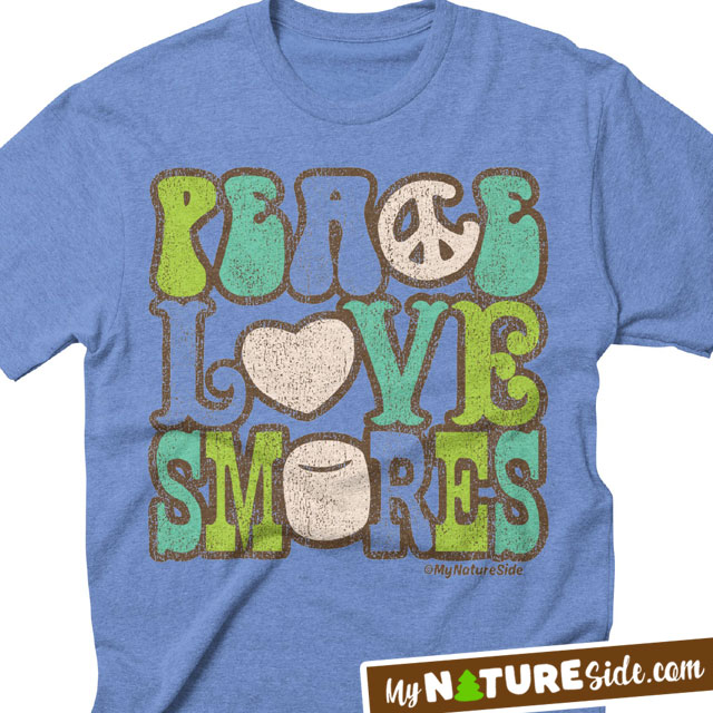 Peace Love Smores Camping Summer TShirt Apparel Sweatshirt Tanks Nature