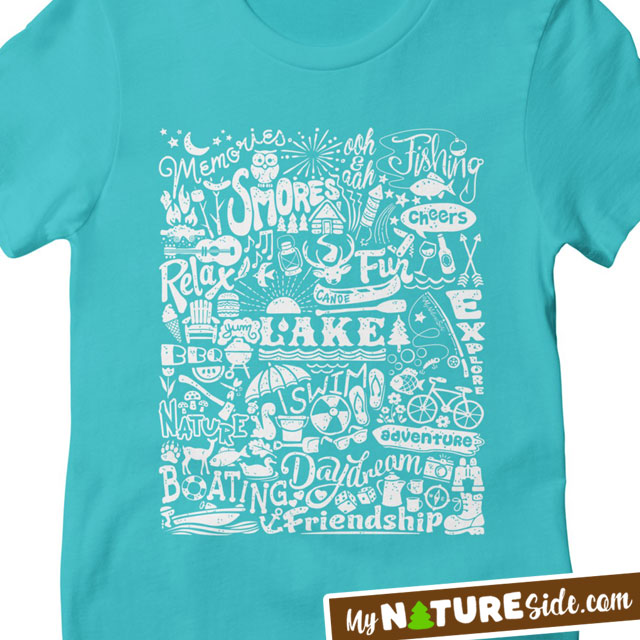 Lake Girl Summer Camping Apparel Retro TShirt Vintage