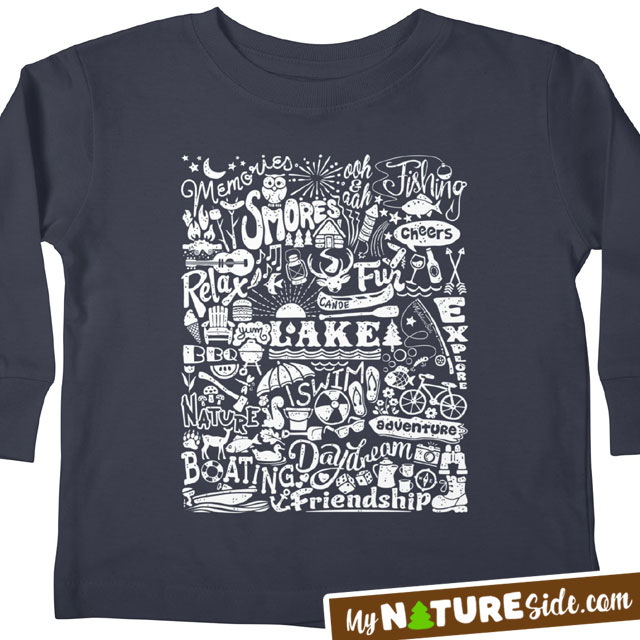 Lake Kid Summer Camping Apparel Retro TShirt Vintage