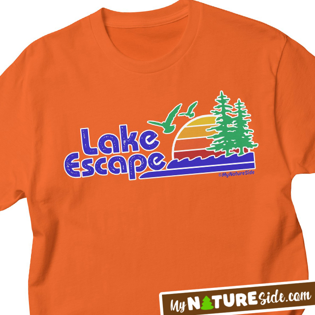Retro Lake Escape Shirt Apparel Home Decor