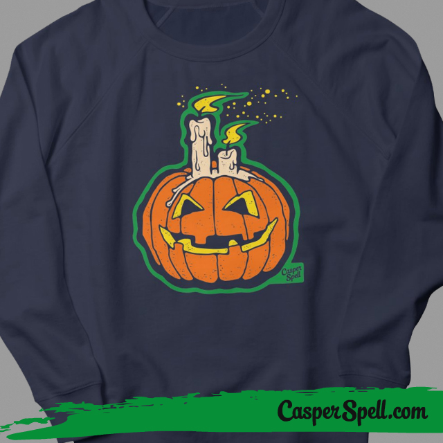 Retro Halloween Shirt Apparel Artist Urban Legend Pumpkin Candle Casper Spell