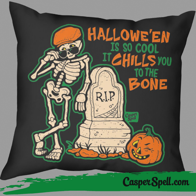 Ironic Hipster Halloween Decor Throw Pillow Style Magick Hocus Pocus Casper Spell