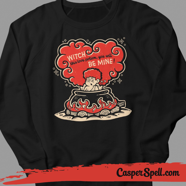 ... Retro Valentine Shirt T Shirt Crew Neck Apparel Witch Stupid Cupid  Casper Spell ...