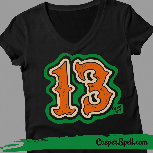 13 Thirteen Taylor Swift Number Lucky Shirt Design Casper Spell