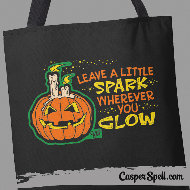 Retro Vintage Halloween Accessories Bag Casper Spell