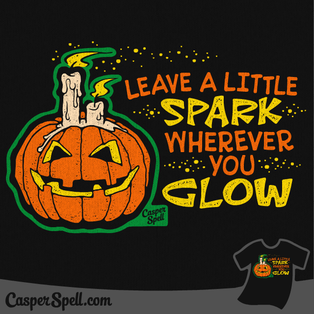 Retro Halloween Apparel Shirt TShirt Casper Spell