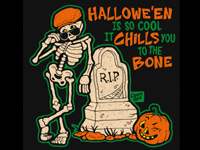 awesome Halloween Spooky Scary Skeleton artist art illustration illustrator casper spell