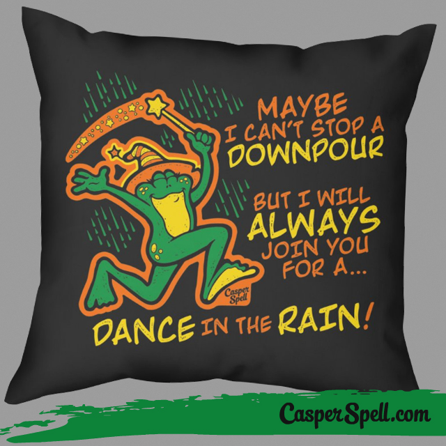 Witch Inspirational Gifts Throw Pillow Frogs Toad Magic Magick Casper Spell