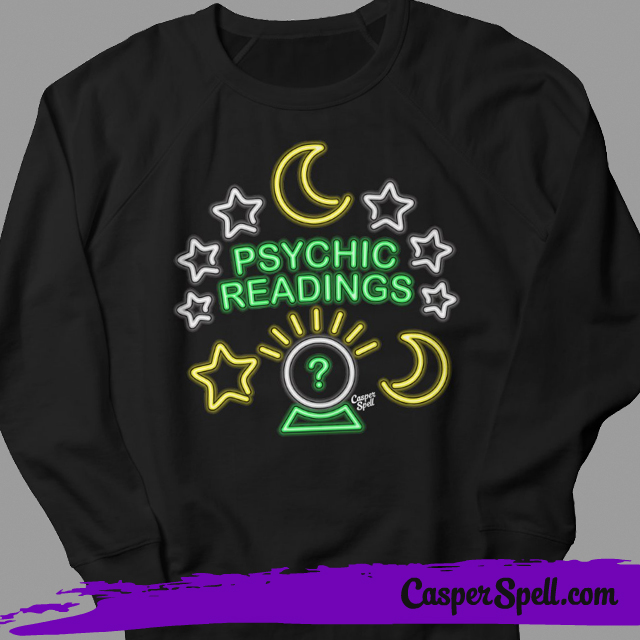Neon Psychic Sign Reader Readings Fortune Teller Shirt Apparel Casper Spell