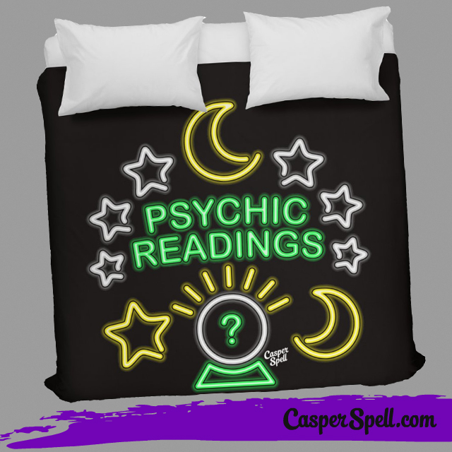 Neon Sign Psychic Readings Fortune Teller Gypsy Art Home Decor Casper Spell